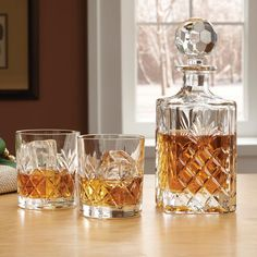 Crystal Decanter Set - Crystal Decanter and Glasses -- Orvis on Orvis.com!