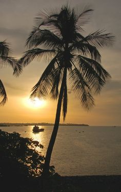 Sunset in Malabo Bay - Equatorial Guinea - Africa