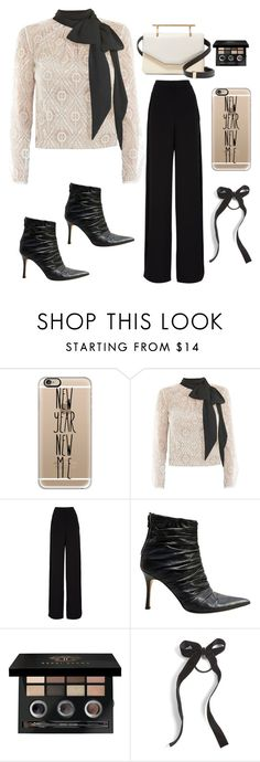 """""""A new year/A New chic look"""" by im-karla-with-a-k ❤ liked on Polyvore featuring Casetify, Victor Xenia, Rochas, Manolo Blahnik, Bobbi Brown Cosmetics, Cara and M2Malletier"""