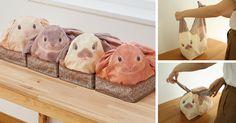 Estas bolsas japonesas convierten tus artículos domésticos en conejitos | Bored Panda