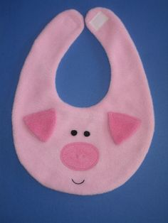 Pig Bib -  Infant Baby Animal Bib