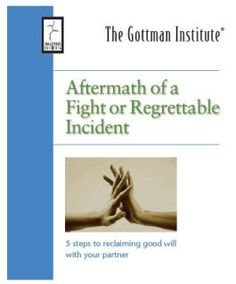 Pamphlet for the Aftermath of a Fight by John Gottman