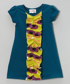 Take a look at this Teal Kylee Dress - Infant, Toddler & Girls on zulily today!