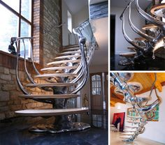 Spinal Staircase - for a Chiropractor's office or just for regular nerds like me!! :)
