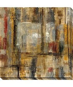 @Overstock - Artist Bellows captures movement, bold colors and geometric lines in this abstract gallery wrapped canvas art print. As part of a limited edition giclee on canvas print set, this oversized canvas comes with a certificate of authenticity.http://www.overstock.com/Home-Garden/Objective-Margin-II-Gallery-Wrapped-Canvas-Art/2954594/product.html?CID=214117 $104.99