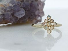 yellow gold, opal and diamond cluster ring Diamond Cluster Ring, Signature Design, Nova Scotia, Fireworks, Wedding Bands, Opal, Jewelry Rings, Jewelry Design, Engagement Rings