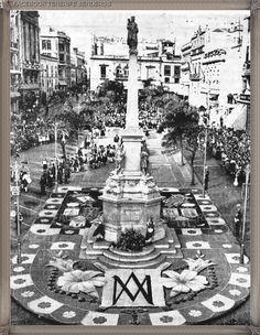 Santa Cruz de Tenerife - plaza de la Candelaria año 1959 #canariasantigua #blancoynegro #fotosdelpasado #fotosdelrecuerdo #recuerdosdelpasado #fotosdecanariasantigua #islascanarias #tenerifesenderos