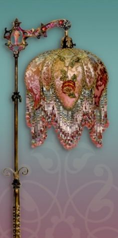 Victorian Lamp Shades for Sale | Beaded Victorian Lampshades and Antique Lamps by Nightshades