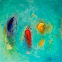 Sarina Diakos Paintings   nebula, original abstract painting
