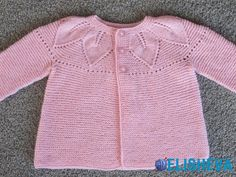 Pattern to Buy - Ravelry: Foglie su legaccio - Leaves of garter stitch pattern by Barbara AjroldiCardigan for girls by Barbara Ajroldi pattern leaves on the round yoke, knittingPuss Baby Cardigan (free pattern) a href='/tag/Patons' Australia Knitting For Kids, Baby Knitting Patterns, Lace Knitting, Crochet For Kids, Baby Patterns, Baby Cardigan, Baby Pullover, Crochet Baby Boots, Knitted Baby Clothes