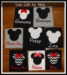 Disney Shirts Minnie and Mickey Family Shirts by SewCutebyAlicia