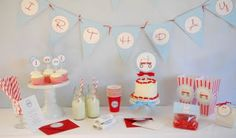 Pretty Smitten with Party Straws Thomas Birthday, Birthday Fun, First Birthday Parties, First Birthdays, Birthday Ideas, Red Wagon Party, Red Party, Cute Banners, Pennant Banners