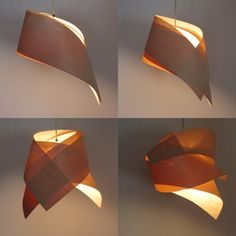 Items Similar To Tie Veneer Lampshade On Etsy