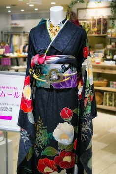 Kimono in Daimaru Department Store in Kyoto, Japan . Japan photography by Andy Heather: