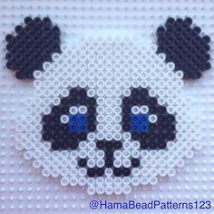 Hama bead Panda by hamabeadpatterns123…