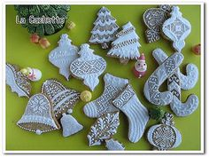 Lace & White Christmas cookies by la-cachette, via Flickr