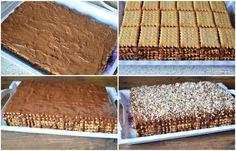 Tort de biscuiti cu crema de ciocolata si rom - Retete Timea Cake Recipes, Dessert Recipes, Homemade Sweets, Food Cakes, Tiramisu, Banana Bread, Biscuits, Cooking, Breakfast
