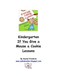 FREE Emergency Sub Plans Kindergarten If You Give a Mouse a Cookie