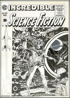 Original Comic Art:Covers, Wally Wood - Original Cover Art for Incredible Science Fiction #33(EC, 1956). If one were asked to sum up this cover in one... Image #1 sold for 26,450 on7.16.03