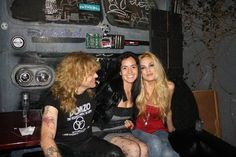 Steven Adler with his wife Carolina and Tommy Lee's sister Athena.