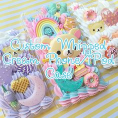 Fully+customizable+whipped+cream+phone+case+listing+for+all+phones+and+iPods!+Select+your+phone+model+from+the+drop-down+menu+and+upon+checking+out,+please+let+me+know+the+following+in+the+comment+box:  -+Your+design+choice+and+how+you'd+like+your+case+to+look -+The+best+email+address+to+reach...