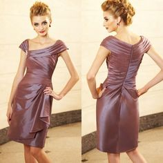 2015 Formal Petite Mother Bride Dresses Short Knee Length Mother Of The Groom Wedding Party Gowns Cocktail Party Dress With Off Shoulder Vintage Mother Of The Bride Dresses Mother Of The Groom Dresses Plus Size From Weddingfactory, $88.77| Dhgate.Com