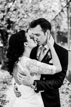 Romance love wedding pose / Portland wedding- by Dina Chmut Photography