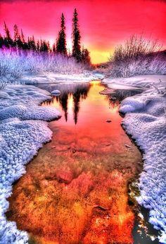 Les plus beaux couchers de soleil aux pays des glaces                                                                                                                                                                                 Plus