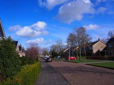 een straat in Surhuisterveen