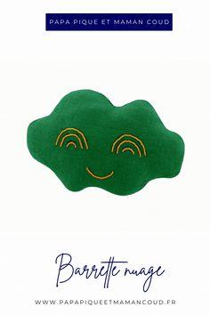 Barrette cheveux nuage - Papa Pique et Maman Coud