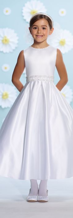 First Communion Dresses by Joan Calabrese - Spring 2016 -Style No. 116374 #firstcommuniondresses