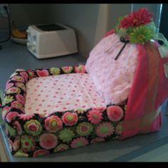 Diaper bassinet I custom made for a family member. #diaper #cake #bassinet
