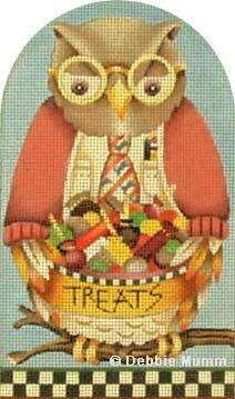 Melissa Shirley Designs | Hand Painted Needlepoint | Mr. Owl © Debbie Mumm