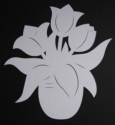 Paper Stars, Paper Cutting, Paper Flowers, Diy And Crafts, Spring, Kids, Handmade, Outline, Mother's Day