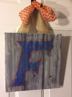 Personalized Family Name Wood Sign or Front Door Hanger: University of Florida Gators on Etsy, $27.95