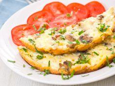 Omelette aux champignons de paris facile - Recette de cuisine Marmiton : une recette