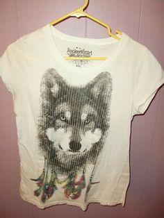 Rocker Girl by All Access Native American Wolf T Shirt Top Womens Sz XXL 2XL T   eBay