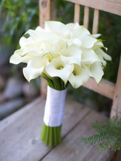Wedding anniversary flowers by year UK. Calla Lily bouquet. #wedding #flowers