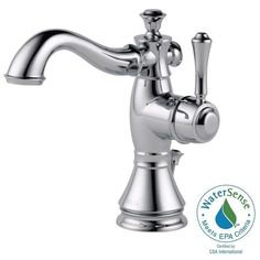 Delta Cassidy Single Hole Single-Handle Bathroom Faucet in Chrome with Metal Pop-Up - 597LF-MPU - The Home Depot