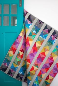 Alison Glass - Patchwork -Spectrum Quilt Beautiful new saturated colors!!