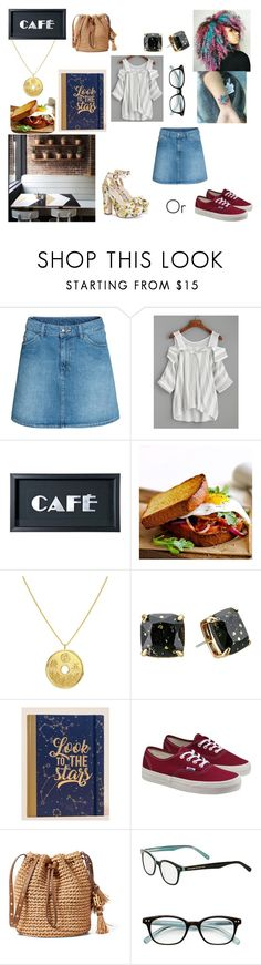 """""""Going to the cafe for writing inspiration"""" by keneko17therainbowprincess on Polyvore featuring WithChic, Kate Spade, Francesca's and Vans"""
