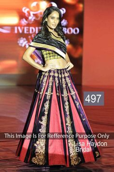 Lisa Haydon Multi Georgette Latest Designer Bollywood Lehenga