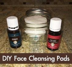 Here is a step-by-step video for making your own DIY face cleansing pads with Young Living's cypress and tea tree essential oils.  Gather: distilled water, aloe vera juice, witch hazel, cypre…
