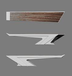 Wings by Denis Strelkov, via Behance Plumbing Pipe Furniture, Steel Furniture, Plywood Furniture, Cool Furniture, Furniture Design, Painting Furniture, Modern Furniture, Futuristic Interior, Futuristic Furniture