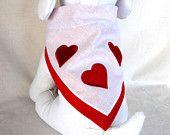Chien Bandana foulard bandana de Valentine pour les petits animaux de compagnie, chiens de grandes taille, Pet Lovers rouge et blanc Valentine Bandana