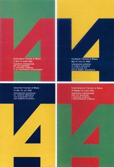 Albe Steiner | 14th Milan Triennale, exhibition poster, 1968.