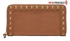 Liebeskind Geldtasche RFID Muskat Farrah Studs Sally braun Sally, Pocket Wallet, Bags