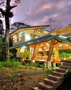 Bamboo House Facade Design Stunning modern bamboo house and construction Home design