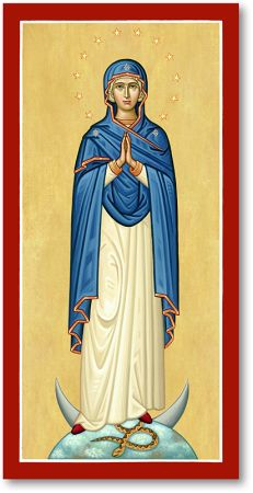 Browse the entire collection of Blessed Virgin Mary icons, like the Immaculate Conception Icon, exclusively at Monastery Icons. Religious Images, Religious Icons, Religious Art, Blessed Mother Mary, Blessed Virgin Mary, Monastery Icons, Writing Icon, Hail Holy Queen, Haitian Art