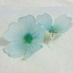 【レシピ】プラバンでつくるお花のピアス